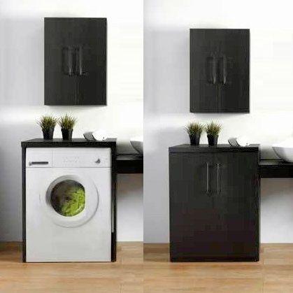 Dettagli su Mobile bagno coprilavatrice su misura con o senza ante in 15  colori arredo|1