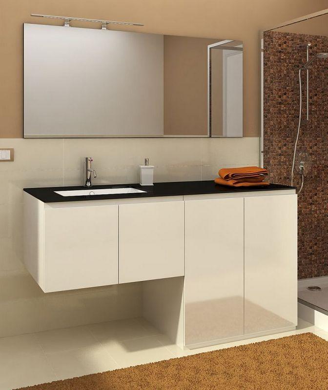 Mobile bagno con porta o copri lavatrice vip3 da 160 cm - Mobile coprilavatrice con lavatoio ...