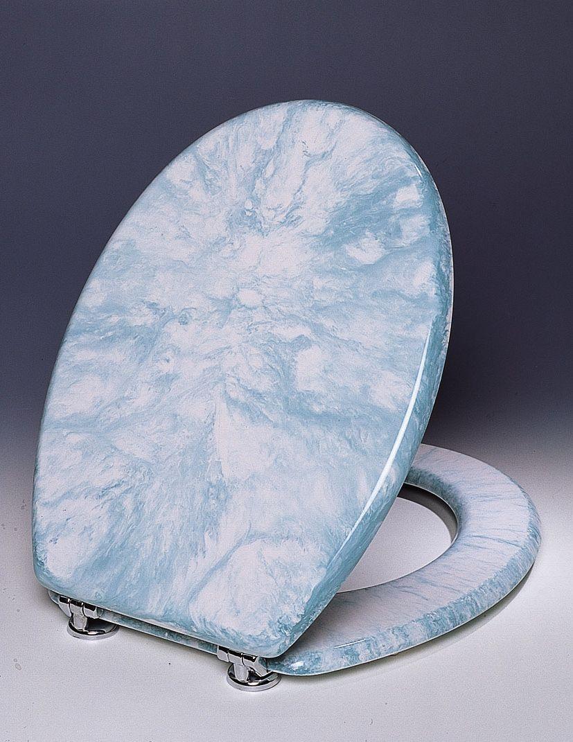 Copriwater universale in poliestere marmorizzato verde bh - Bagno italia it ...