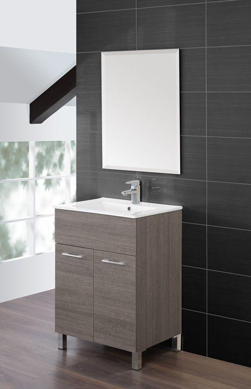arredo bagno coral, mobile bagno moderno, lavabo in ceramica br - Mobile Bagno Senza Lavandino