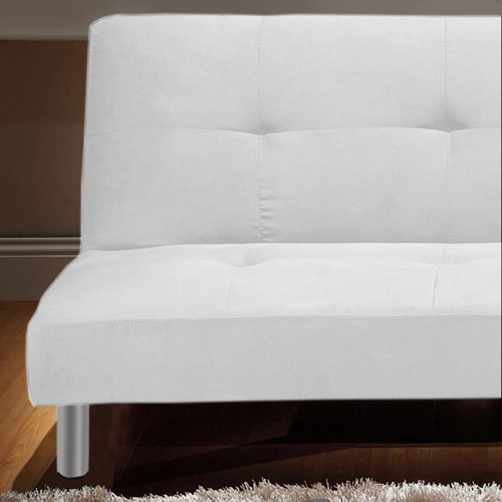 Divano letto reclinabile Veronica in microfibra cm 180 bianco o ...