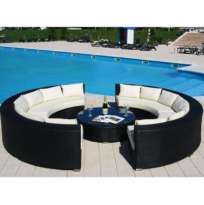 Arredamento per esterni wendy 250x80 circolare sof grande for Arredamenti x esterni