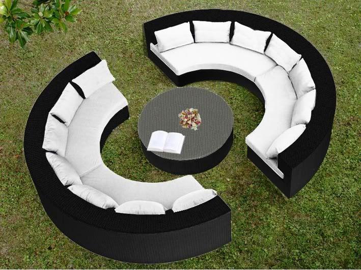 Arredamento per esterni Wendy 250x80 circolare sofà grande ...