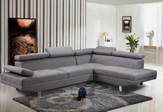 Divano angolare soggiorno sofà destro o sinistro ecopelle microfibra