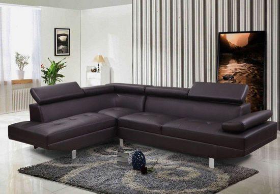 Divano angolare lily in ecopelle o microfibra nero bianco - Microfibra divano ...