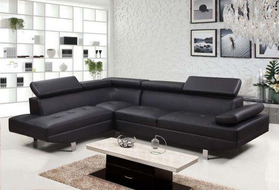 Divano angolare soggiorno sofà destro o sinistro ecopelle microfibra ...