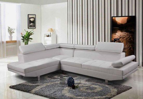 Divano angolare soggiorno sofà destro o sinistro pelle microfibra ...