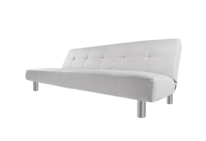 Divani Bianchi Ecopelle : Divano letto 3 posti ecopelle bianco stile moderno reclinabile da