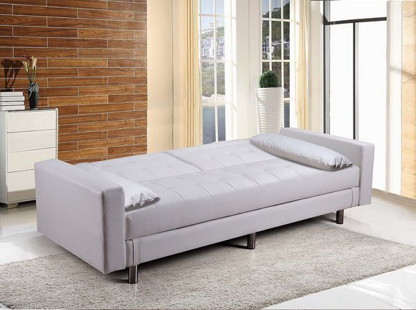 Divano Letto Bianco Ecopelle : Divano letto con vano contenitore in ecopelle o microfibra con