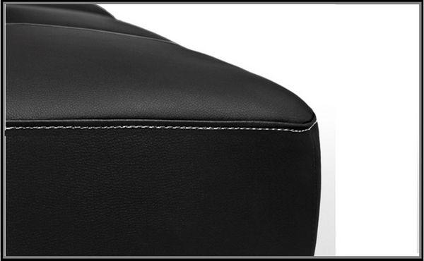 Divano letto in ecopelle federica nero moderno con sistema for Divano letto nero