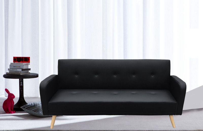 Divano Letto Bianco Ecopelle : Divano letto rodrigo 210x82x88 microfibra ecopelle bianco nero rosso