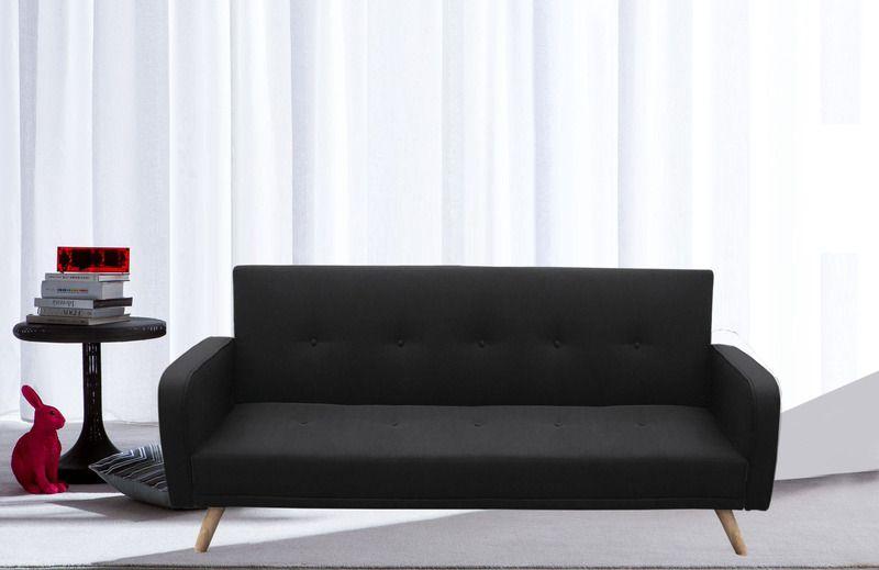 Divano letto rodrigo 210x82x88 microfibra ecopelle bianco for Divano letto legno