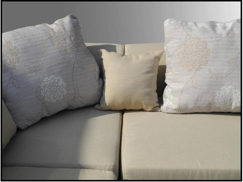Divano soggiorno Magnolia 340cm arredamento moderno color sabbia componibile