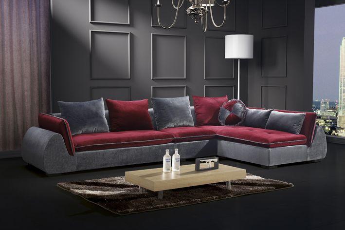 Divano soggiorno Beatrice 360cm arredamento moderno cuscineriacompresi