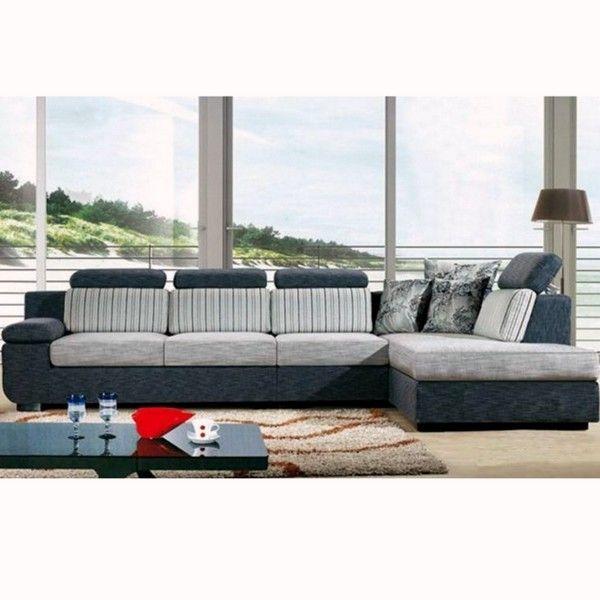 Divano angolare soggiorno perla 330 cm microfibra con penisola - Divano con chaise longue ...