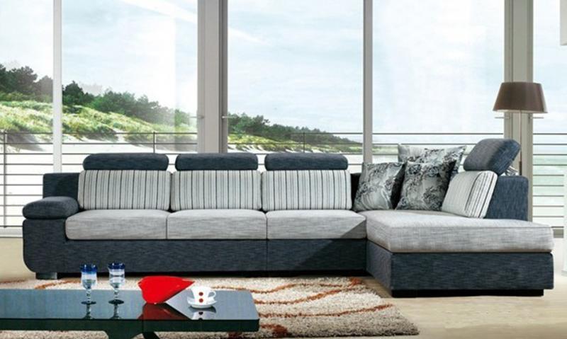 Divano angolare soggiorno perla 330 cm microfibra con penisola for Soggiorno con divano