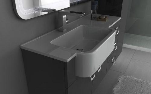 Arredo bagno florida 130 30 disp bianco viola grigio for Arredo bagno viola