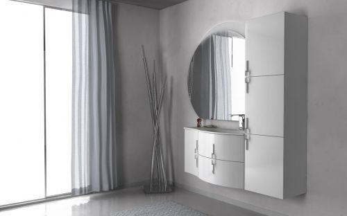 Mobile bagno moderno sting 69 cm in 4 colori arrotondato bh for Mobile bagno moderno bianco