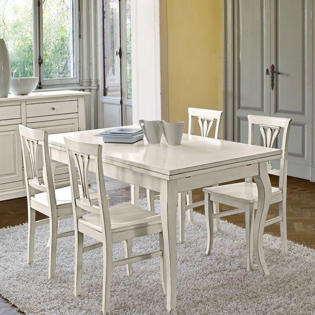 Tavolo cindy arte povera allungabile colore bianco opaco for Gambe per mobili ikea