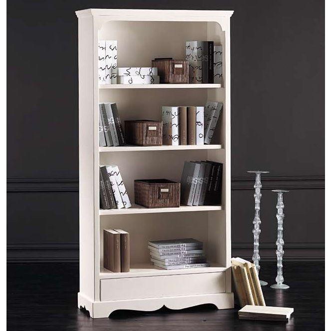 mobile gaia libreria nei colori bianco opaco e noce lucido