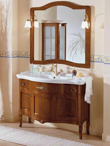 Arredo bagno legno noce cm109 arte povera fatto a mano - Mobili bagno classici mondo convenienza ...