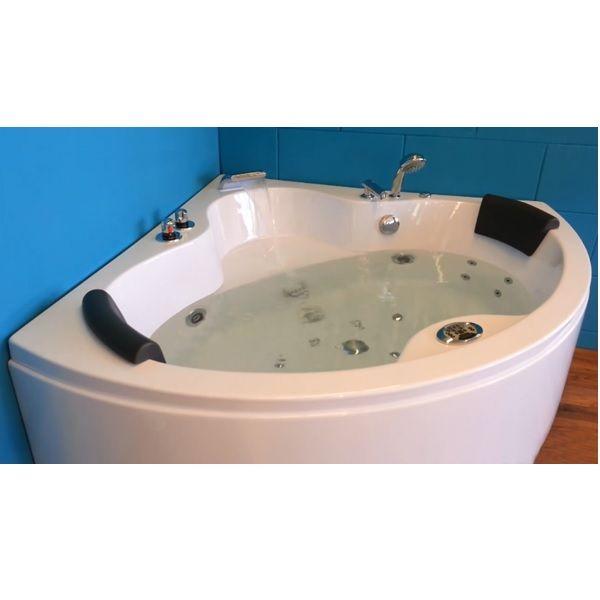 Vasca idromassaggio 135x135 bianca con riscaldatore - Cromoterapia vasca bagno ...