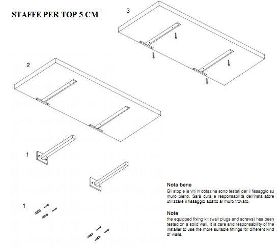 Piano mensola per lavabo d 39 appoggio in legno in vari colori mf for Supporti per mensole