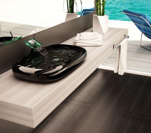 Mensola per lavabi d'appoggio in legno listellare massello ...