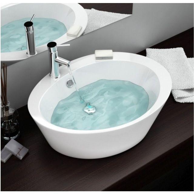 Lavabo adria forma ovale a base alta 60x47x15 in ceramica bianco