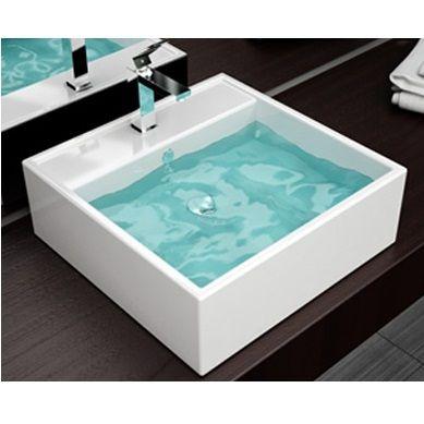 Lavabo d appoggio con predisposizione miscelatore - Miscelatore lavabo bagno ...