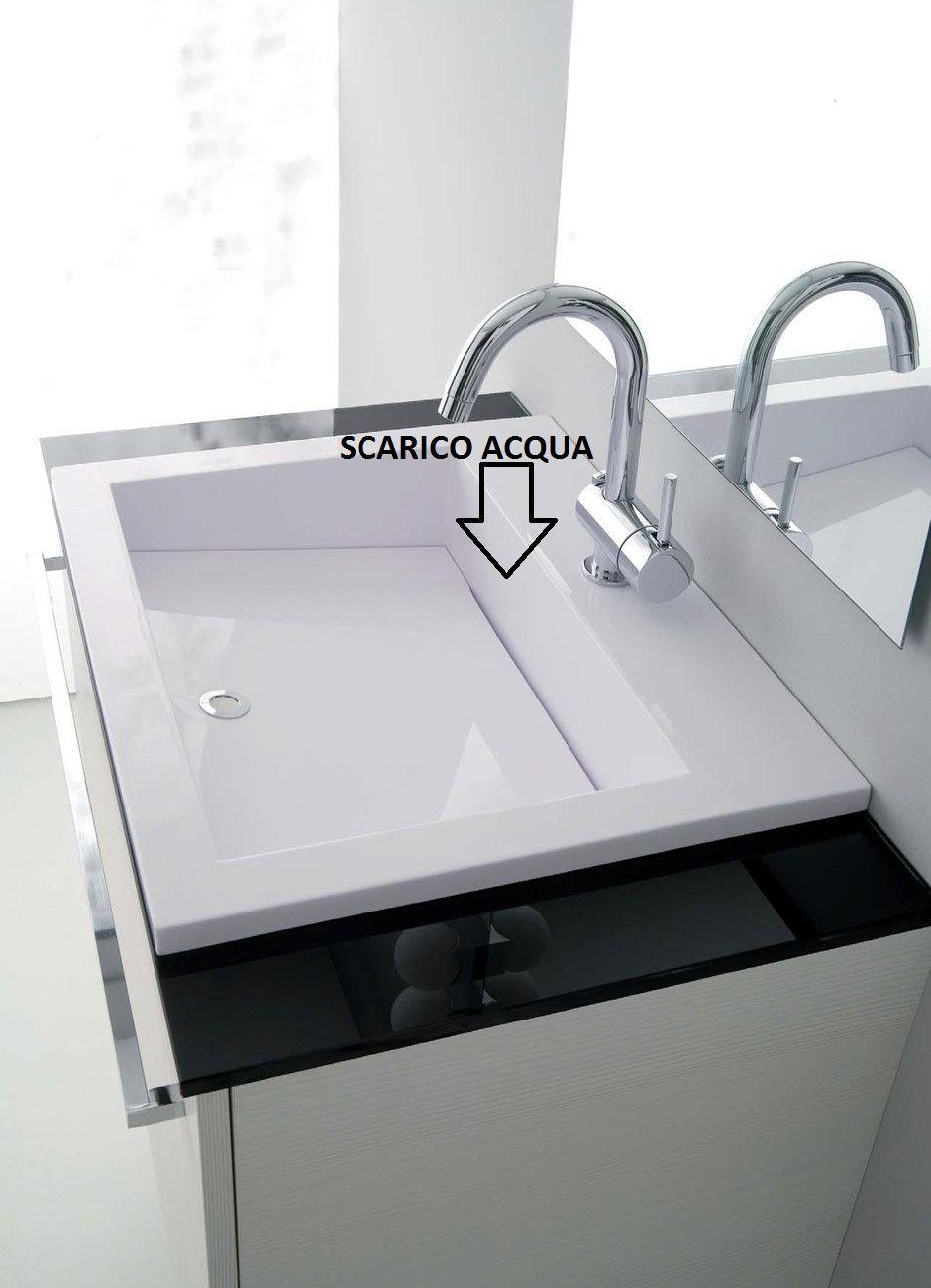 Mobile bagno vip mobile moderno con coprilavatrice mc - Lavelli bagno da incasso ...