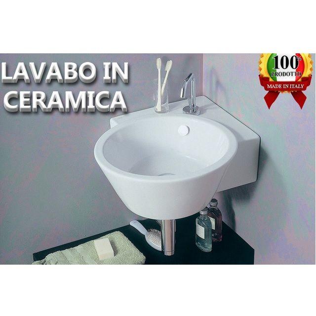Lavabo in ceramica althea 52x52x21 angolare df - Lavabo ad angolo ...