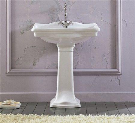 Lavabo con colonna ceramica althea - Lavabo con colonna ...