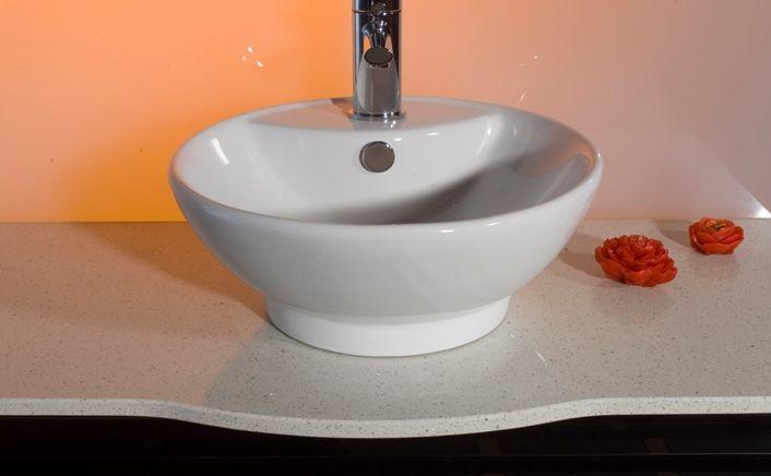 Lavabo d 39 appoggio per mobile bagno rotondo - Bagno italia it ...