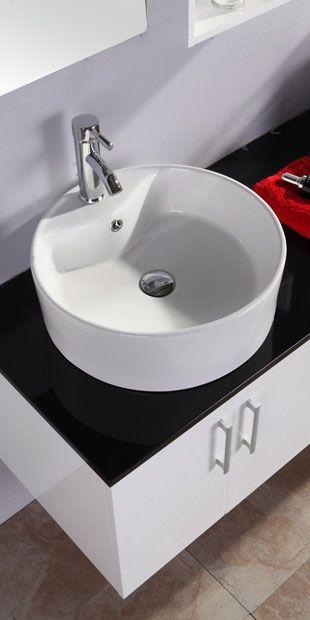 Mobile da bagno diana 150 cm doppio lavabo bianco e - Lavabo nero bagno ...
