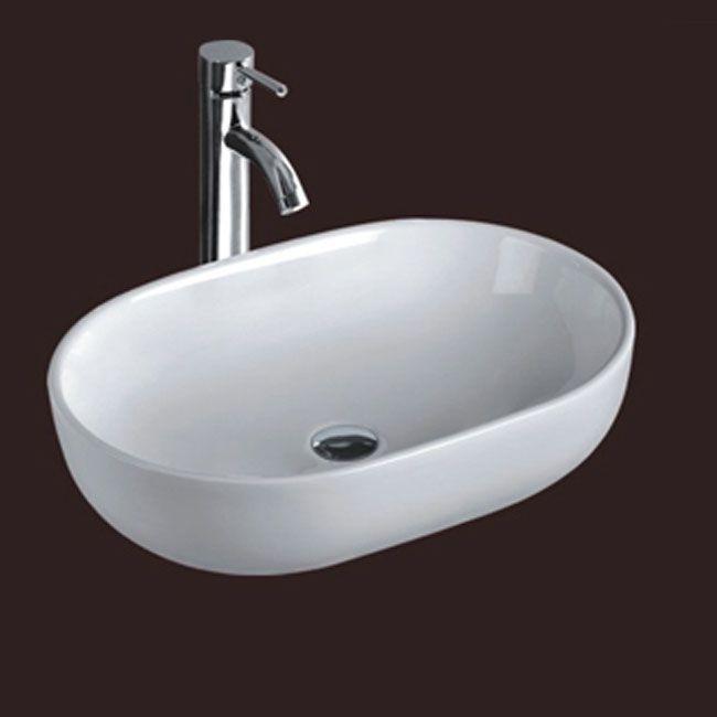 Lavabo d 39 appoggio in ceramica opera dimensioni 60x40cm md - Ikea lavandino bagno ...