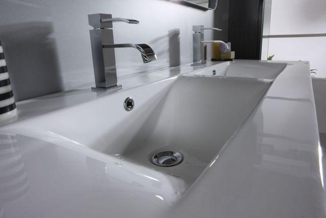 Mobile Bagno Sirio doppio lavabo cm 120 con 2 colori e lavabo di ...