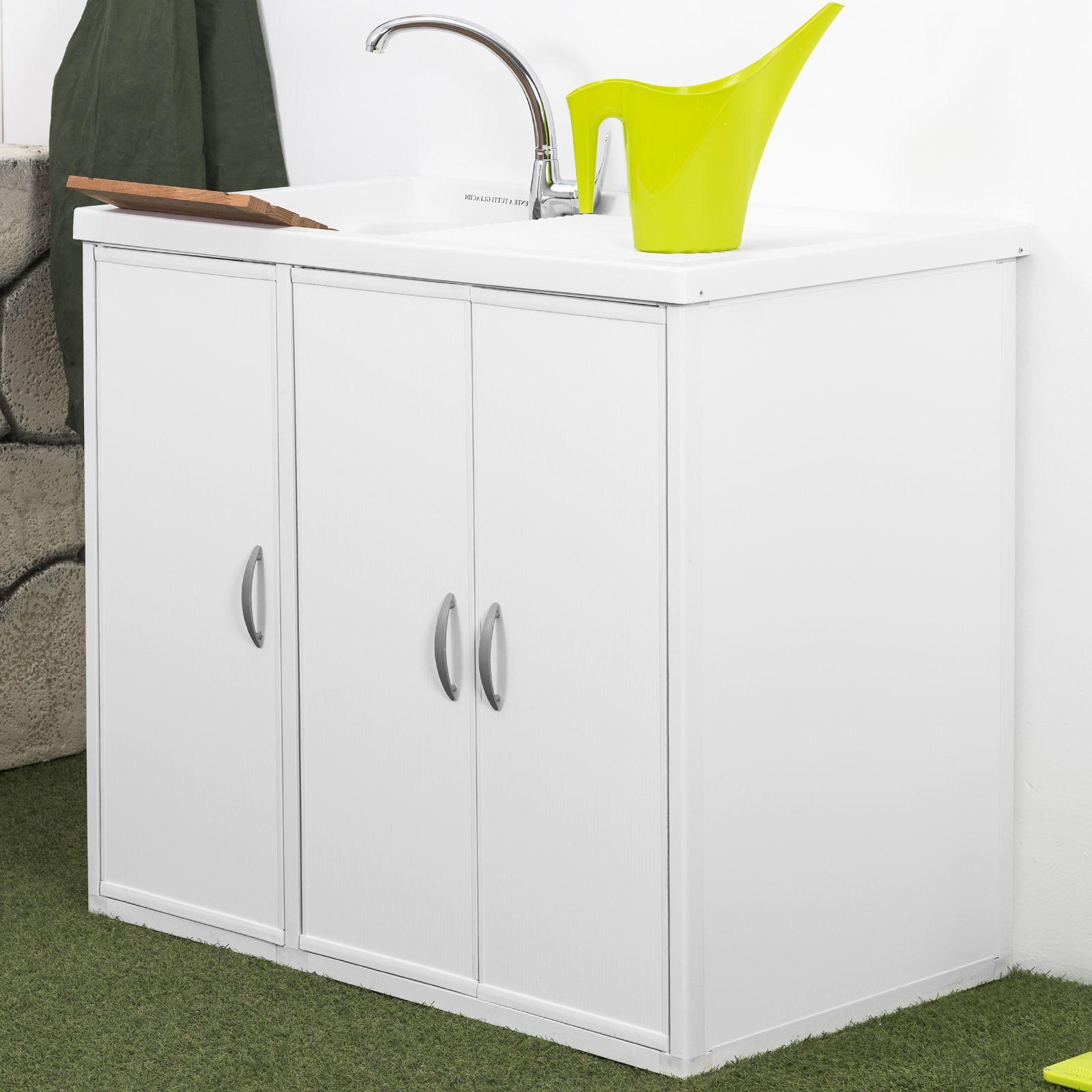 Lavatoio con coprilavatrice lavapanni esterno interno de - Resina per mobili ...