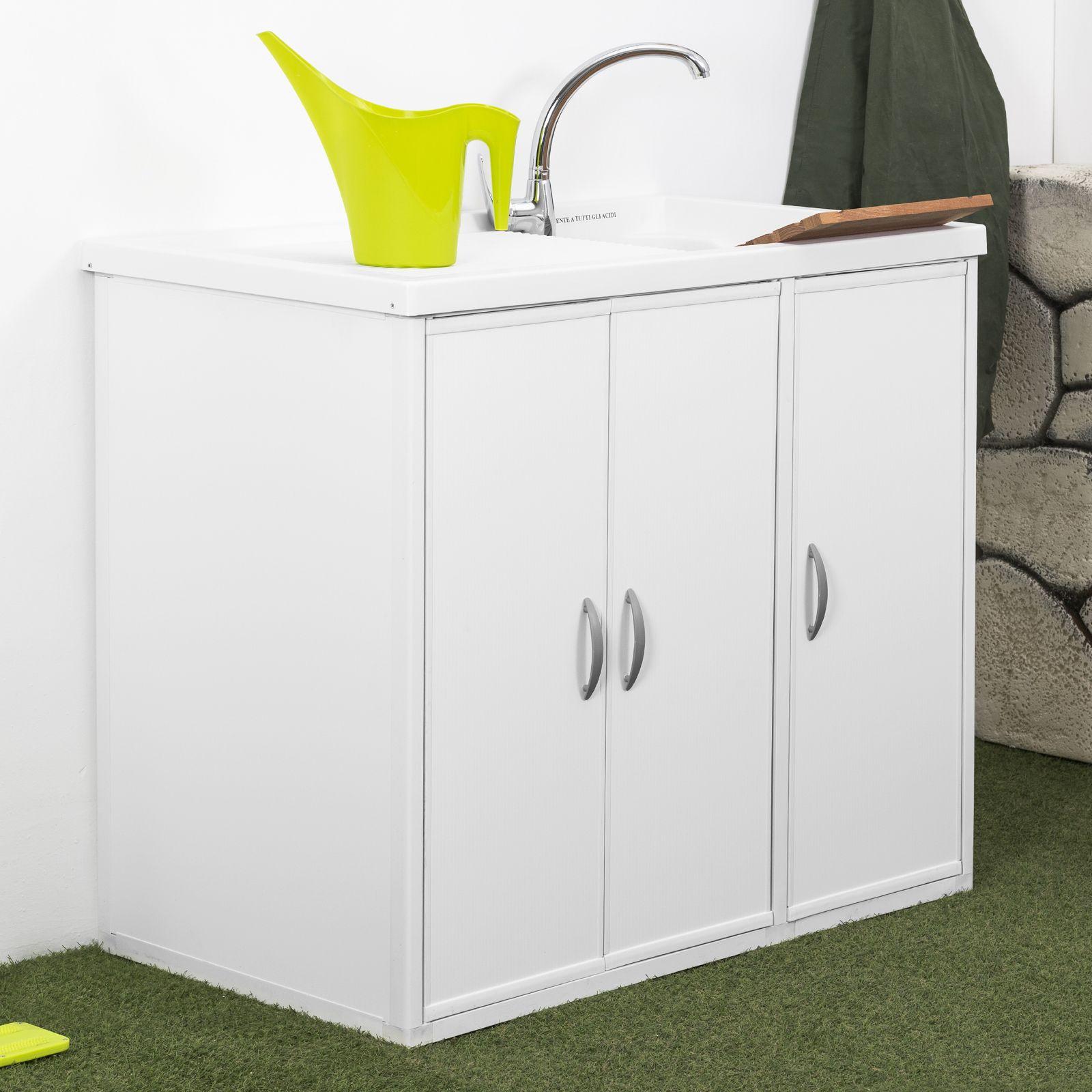 Lavatoio con coprilavatrice lavapanni esterno interno de for Mobile coprilavatrice da esterno