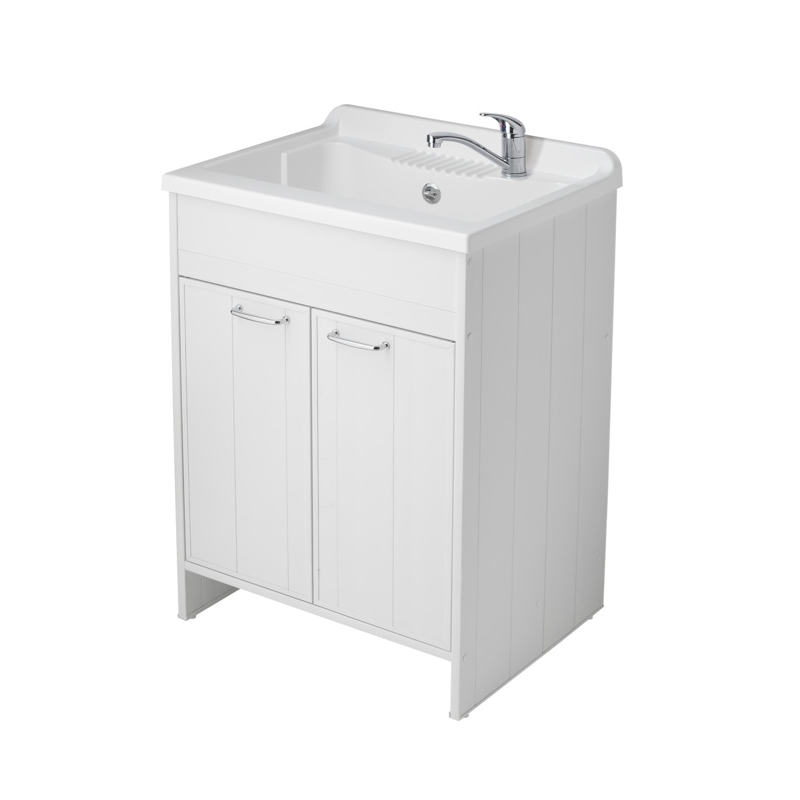 Lavatoio per esterno lavapanni con pilozza 2 ante - Copertura lavatrice da esterno ...