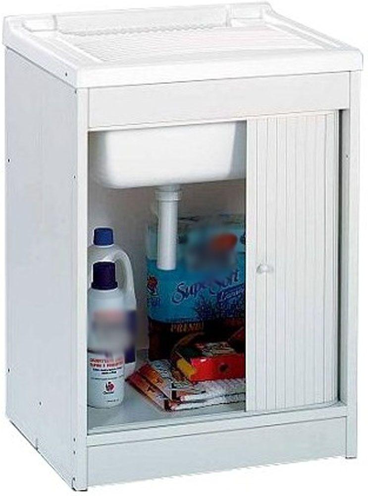 Lavatoio lavapanni pilozza per esterni 1 anta bianco - Lavatoio esterno ...