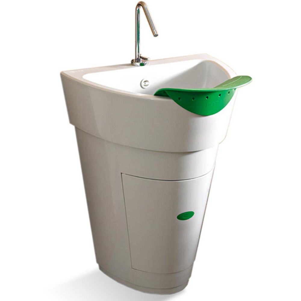Mobile lavatoio 60x53xh82 con lavapanni a foglia bianco in polipropilene piletta e sifone inclusi - Lavatoio ceramica con mobile ...