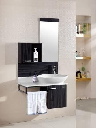 Arredo bagno topazio sospeso con lavabo d 39 appoggio pd sb for Mobili bagno 80 cm