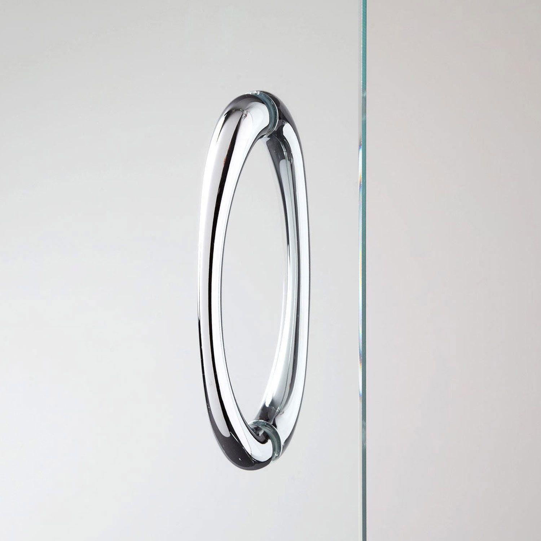 Porta doccia con due ante scorrevoli per nicchia h 185 198 - Altezza maniglia porta ...