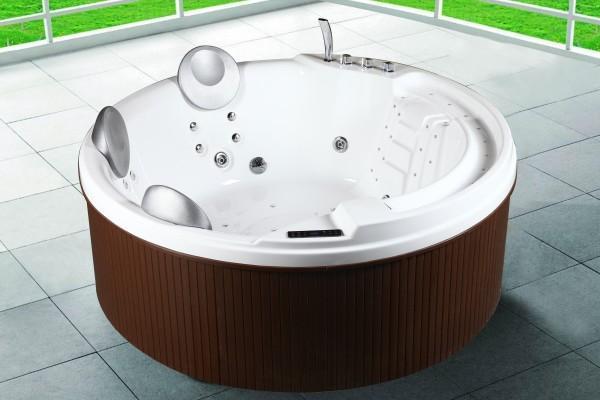 Minipiscina idromassaggio 200x200x80 cm con 29 idrogetti - Vasca da bagno piscina ...