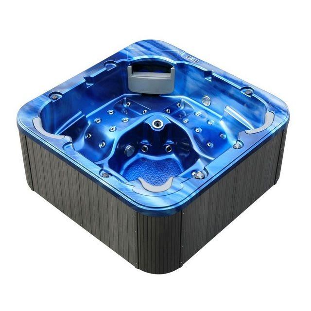 Minipiscina idromassaggio per 5 persone 215x215cm 52 getti pr - Scalda acqua per piscina ...