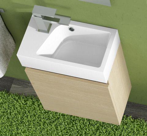 mobile bagno z minimal 40 cm disp weng grigio e rovere