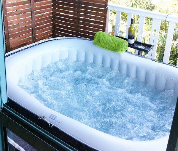 Mini piscina auto gonfiabile idromassaggio rettangolare - Vasca idromassaggio x esterno ...