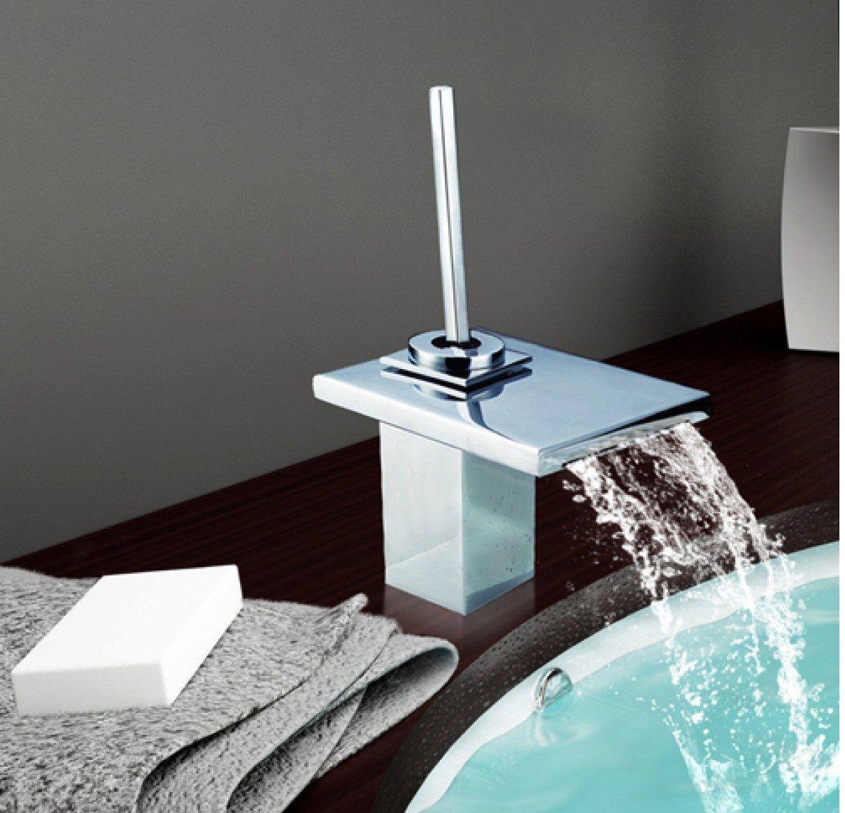 Rubinetti miscelatori bagno effetto cascata led - Rubinetto bagno cascata ...