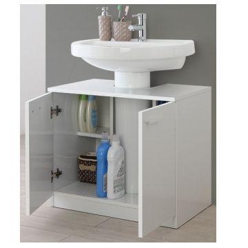 Mobile da bagno copricolonna sottolavabo 70 cm bianco o rovere chiaro 2 ante cz ebay - Mobile sottolavabo bagno ...